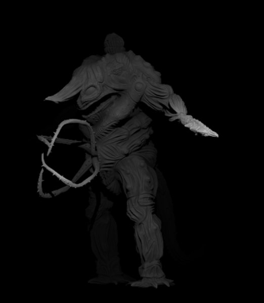 3D model bog monster humanoid creature