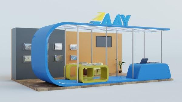 3D exhibition expo scene