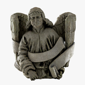 3D model old angel statue