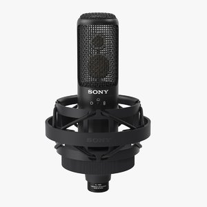 sony c100 condenser microphone 3D model