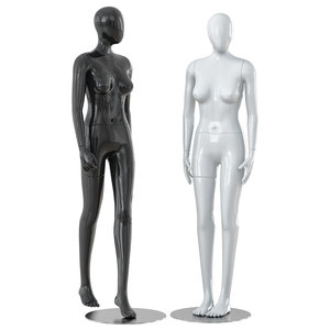 3D faceless woman mannequins model