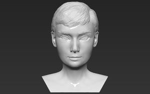audrey hepburn bust ready 3D model