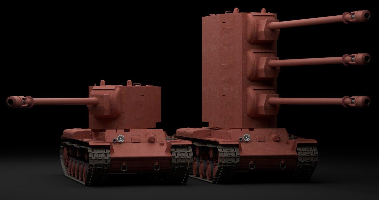 3D cannon kv-2-2-2