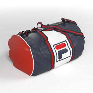 sport bag fila 3D model
