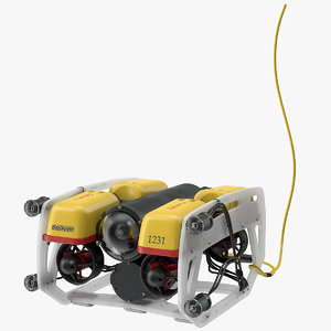 3D model underwater robot light