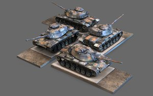 3D m60a1 patton battle tank
