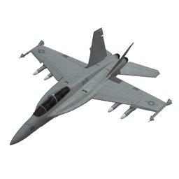 3D f-18 super hornet jet model
