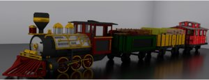 3D model classic toy train