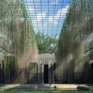 cissus verticillata curtain 3D model