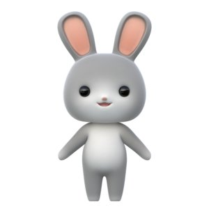 cartoon rabbit 3D