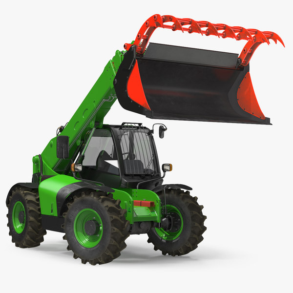 hydraulic forklift bucket generic 3D model