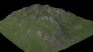 mountain maps desert 3D