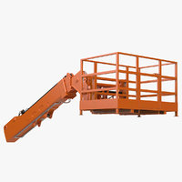 forklift work platform lifting 3D