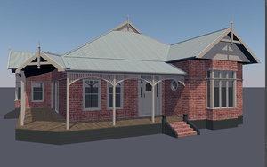 3D australian federation villa