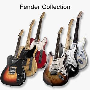 fender guitars 3d model