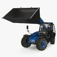 3D telehandler scoop bucket generic model