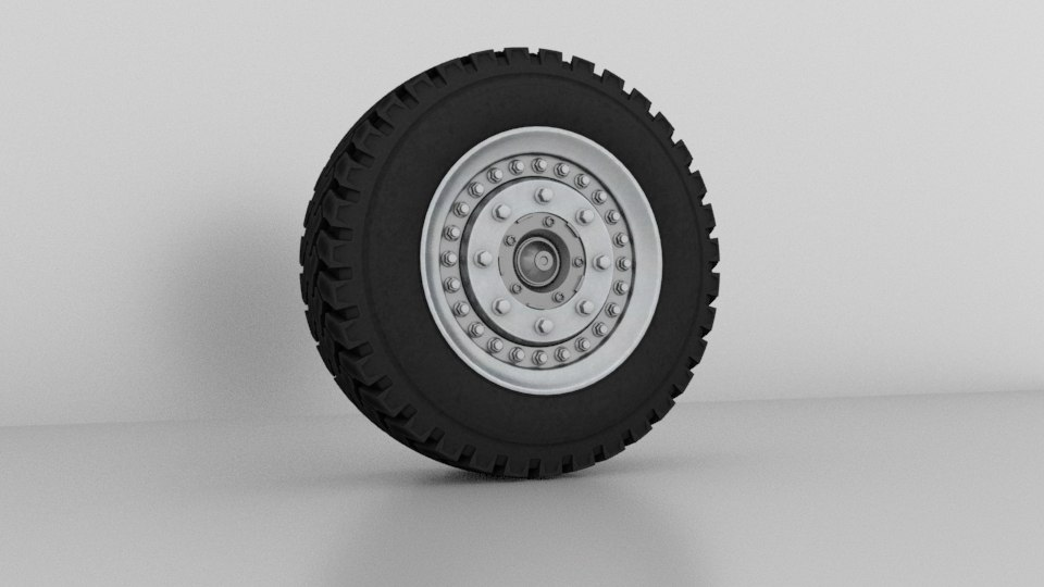monster truck wheel modeled model
