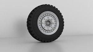 monster truck wheel modeled model