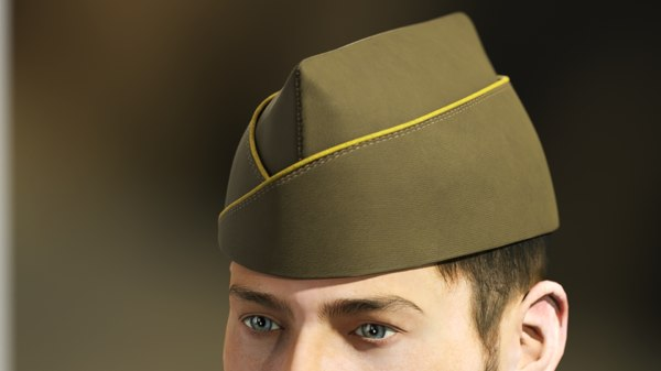 3D classical military garrison cap model