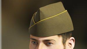3D classical military garrison cap model