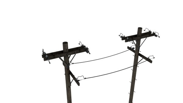 3D telephone pole
