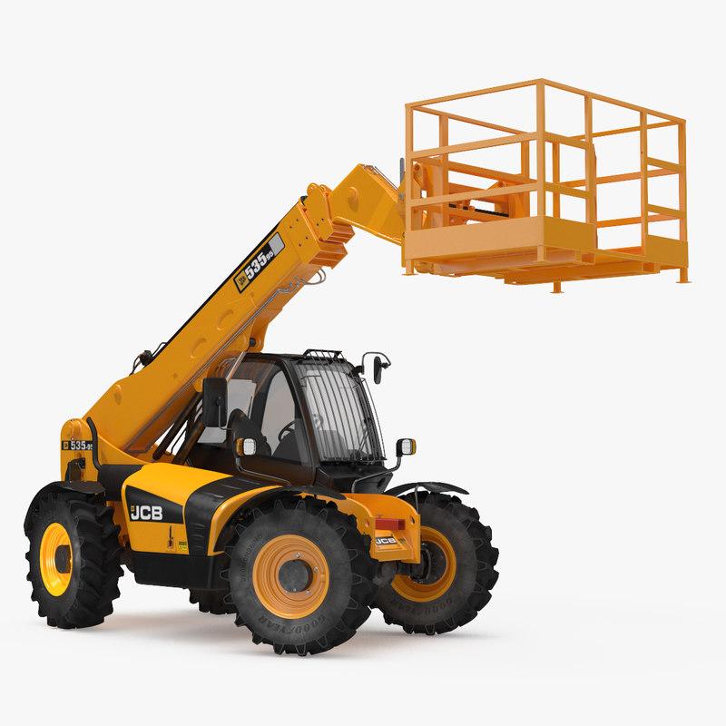 JCB 535 Telehandler Forklift Access Platform Clean Rigged