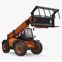 Telescopic Telehandler Forklift Generic Rigged 3D Model