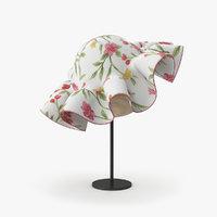 3D hat floral