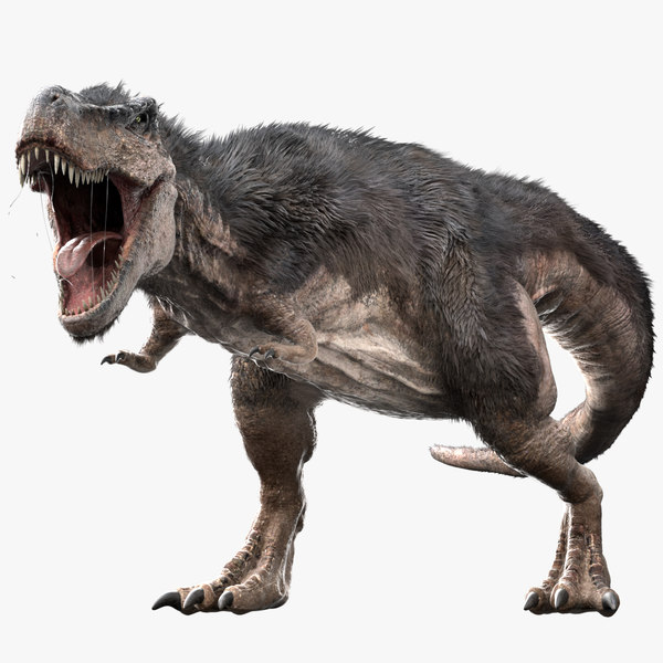 3D v-ray rigged rex