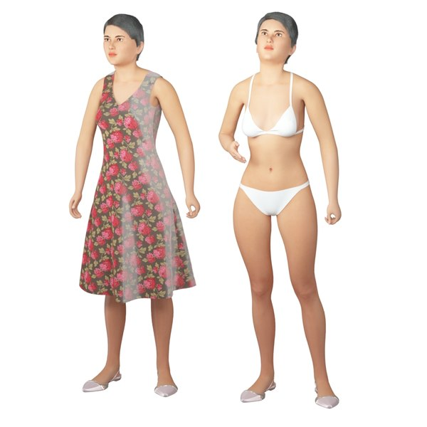 real cloths animation character 3D model
