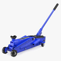 3D model heavy duty steel trolley