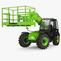 Industrial Telehandler Forklift Access Platform Generic Rigged