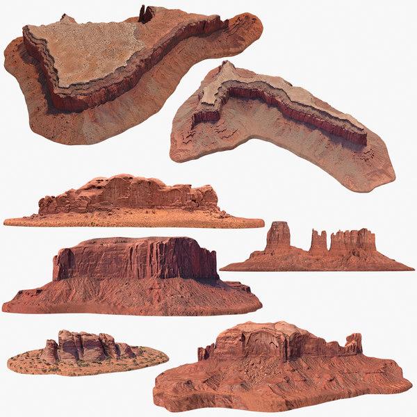 sandstone butte pack 2 3D model