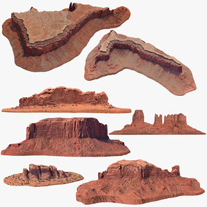 sandstone butte pack 2 3D model