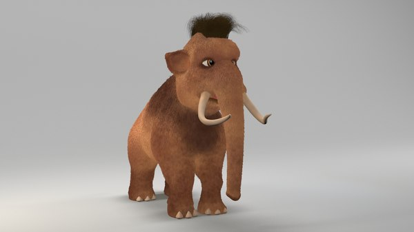 animations tusks 3D model