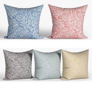 decorative pillows set 071 3D model