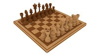 Wooden Chess Set Complete