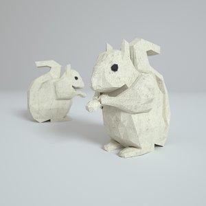 3D paper squirrel