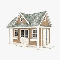 3D garden shed 06 model