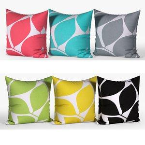 decorative pillows set 072 3D model