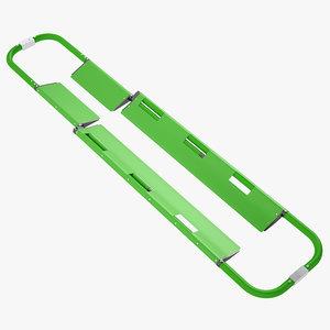 3D model backboard scoop stretcher
