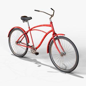 3D retro bike model