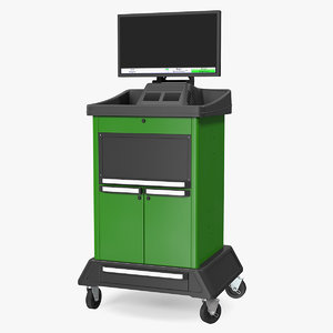 wheel alignment console 3D model