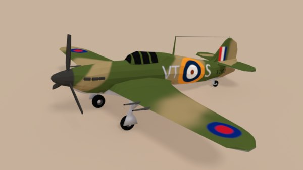 hawker hurricane mk ii 3D model