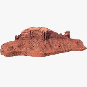 sandstone butte 14 3D model