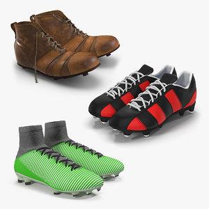 soccer boots 2 3D model