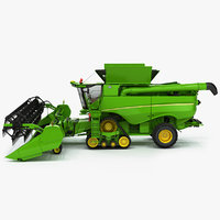 tracked combine harvester 3D