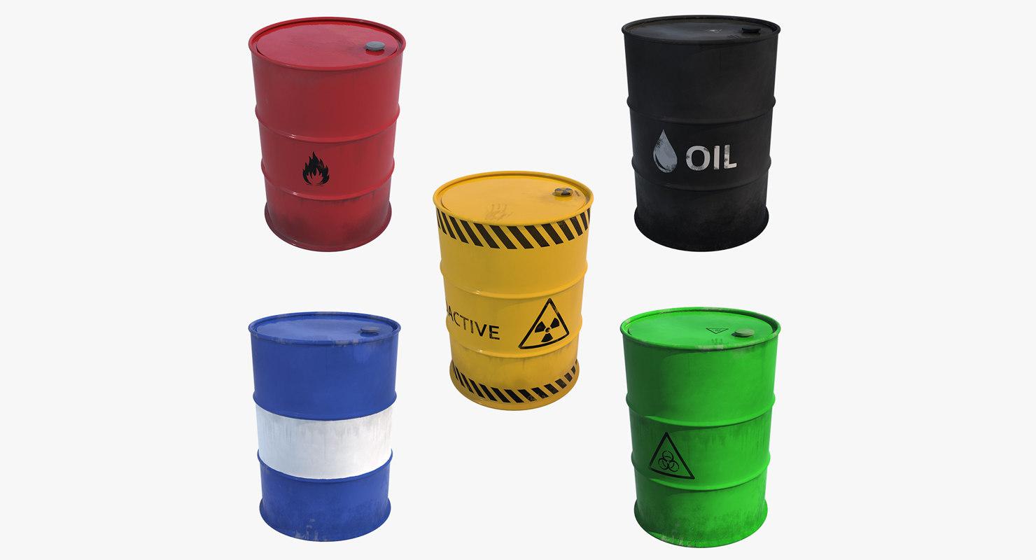 3D barrels contains model