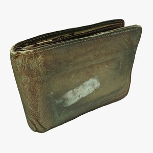 old wallet 3D model