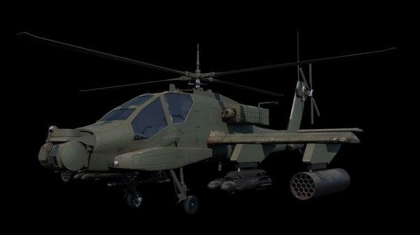 3D apache ah-64